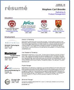 Stephen Brooks Resume