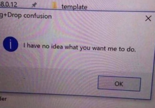 Confused dialog box